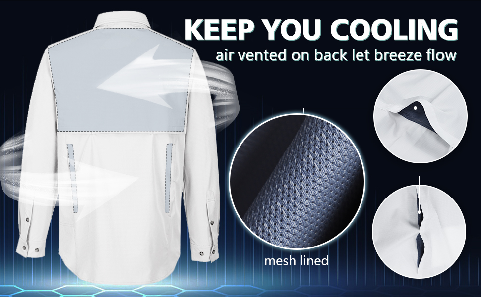 mesh lined shirt cooling shirt for men fast dry moisture wicking shirt breathable shirt