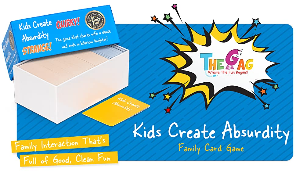Kids Create Absurdity Family Card Game Family Interaction That's Full of Good, Clean Fun