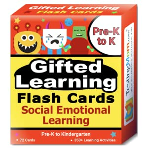 Social Emotional Flash Cards from TestingMom, Gifted Cards