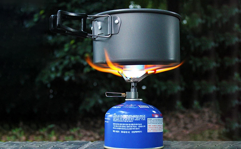 Horno de gas 3000T de BRS, ultraligero, de aleación de titanio, portátil, para camping, 25 g
