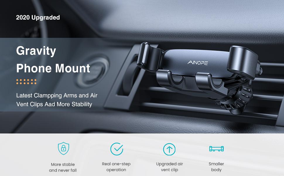 gravity phone holder for car