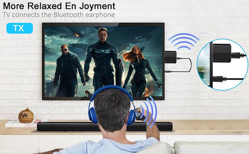 USB Bluetooth 5.0 Audio Transmitter Receiver
