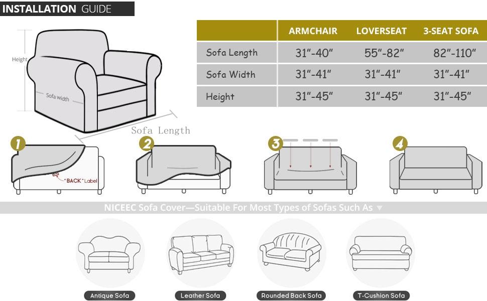 one piece sofa cover