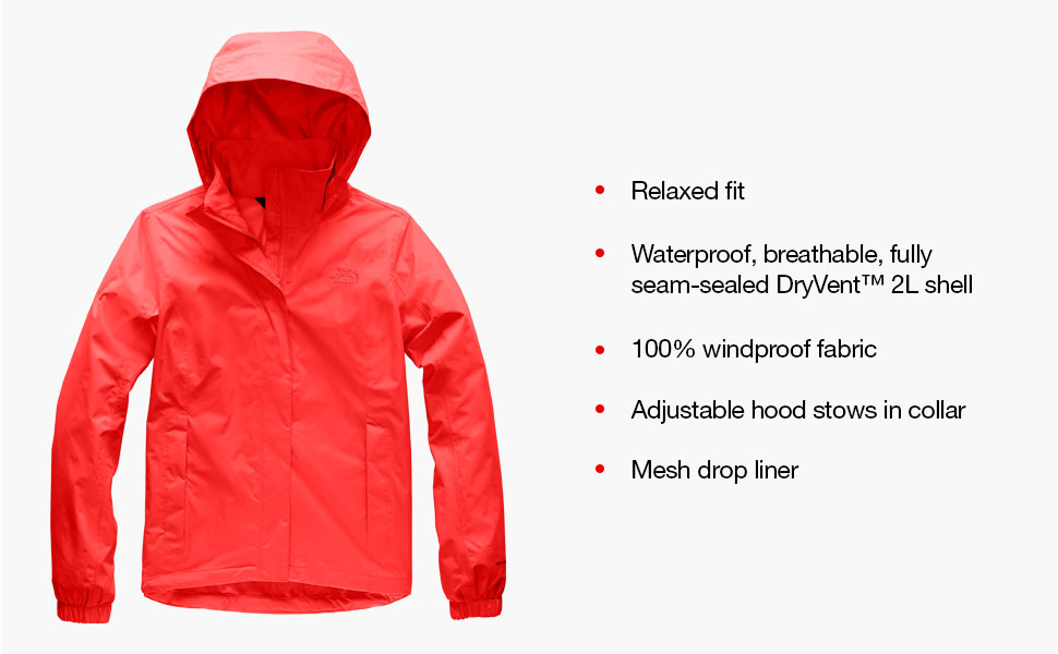 womens outerwear, jacket for women, the north face, the north face womens, north face rain
