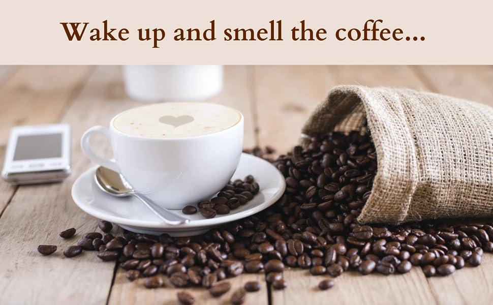 Vakna och lukta kaffet