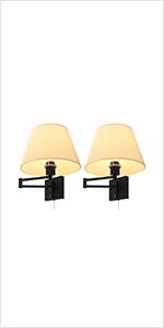 modern fabric wall light set of 2