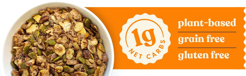 Grain Free Gluten Free Vegan Keto Granola 1 Net Carb Low Carb