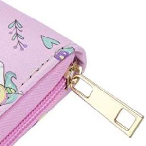 DonDon Porte-monnaie Portemonnaie Portefeuilles pour femme avec licorne Believe in Magic