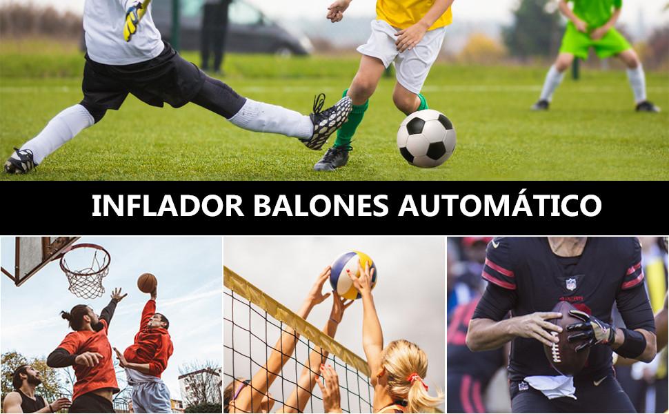 morpilot Inflador Balones Automático, Inflador Portátil para ...