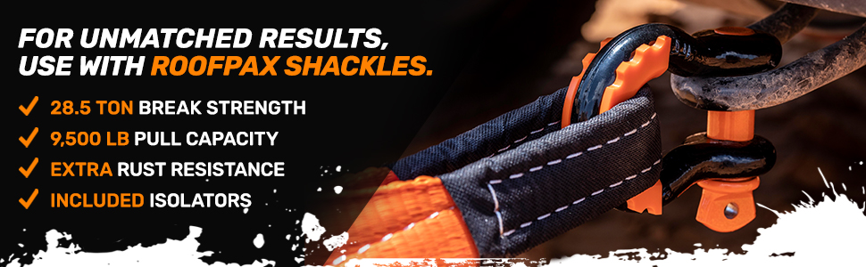 use with roofpax shackles