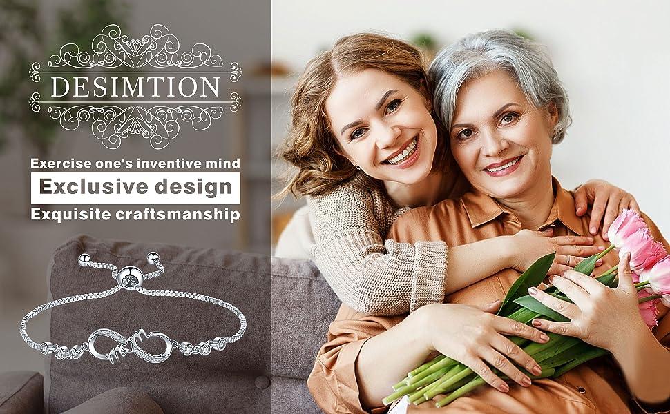 Infinity Mom Sterling Silve Bracelets