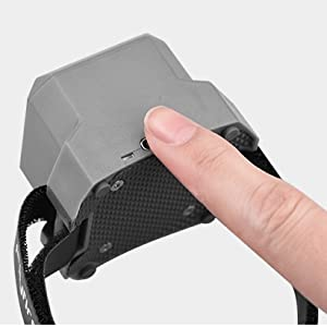 Tap the Type-C charging port to turn on/off