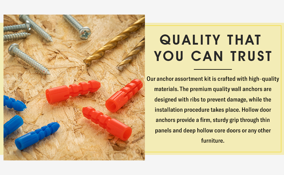 Drywall screws kit for home décor