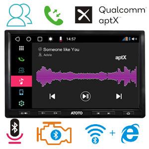 [10 Pulgadas QLED] ATOTO S8 Premium S8G2103M,Android Coche en el Tablero de vídeo y navegación,Dual BT con aptX,teléfono Integración Link,VSV ...