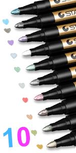 Metallic colored pens