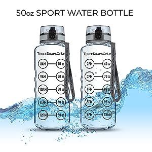 50oz Measuring Water Intake