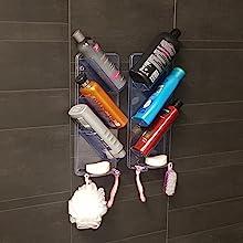Ten pojemnik prysznicowy jest całkowicie odporny na rdzę, ponieważ jest wykonany z tworzywa sztucznego