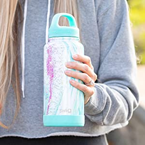 swig life insulated stainless steel water bottle with handle