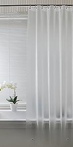 透明シャワーカーテン