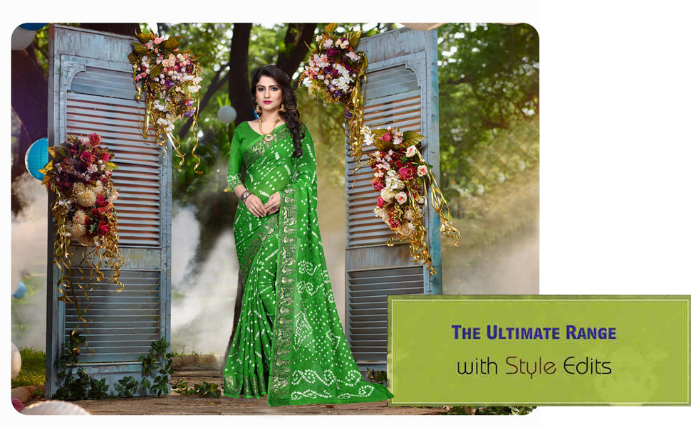 embroidery girls material style green colour georgette gorgette fancy color high quality handloom