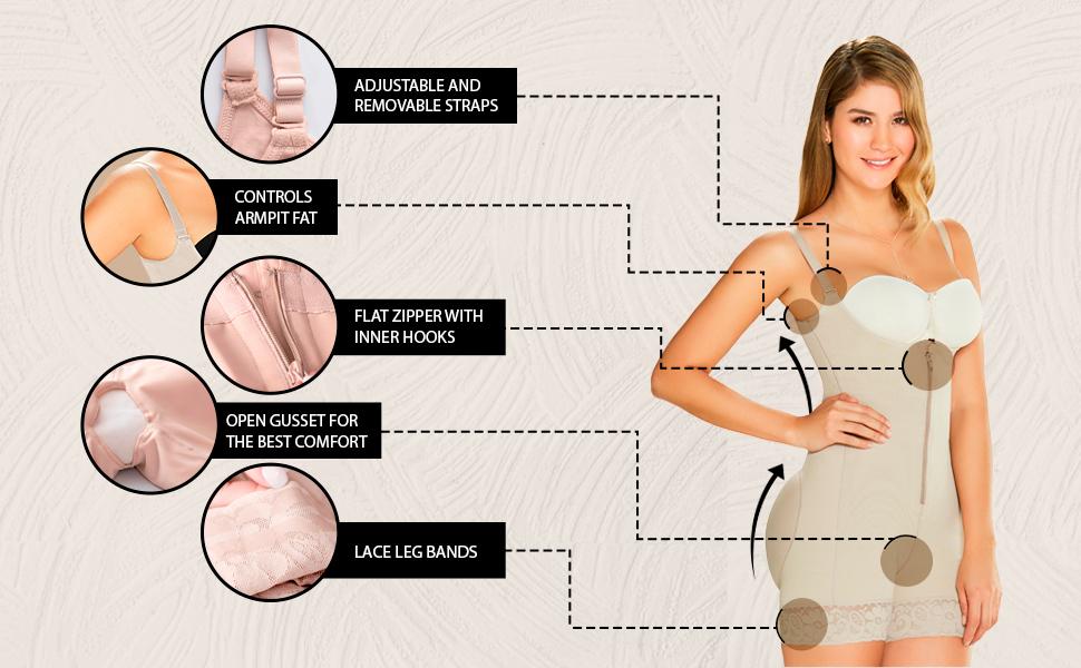 ajas Colombianas Postparto Levanta Cola Postpartum Girdle Body Shaper for Women
