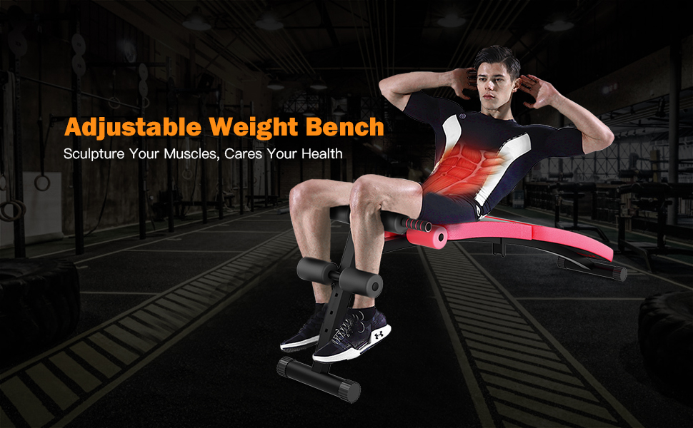 Adjustable wieght bench