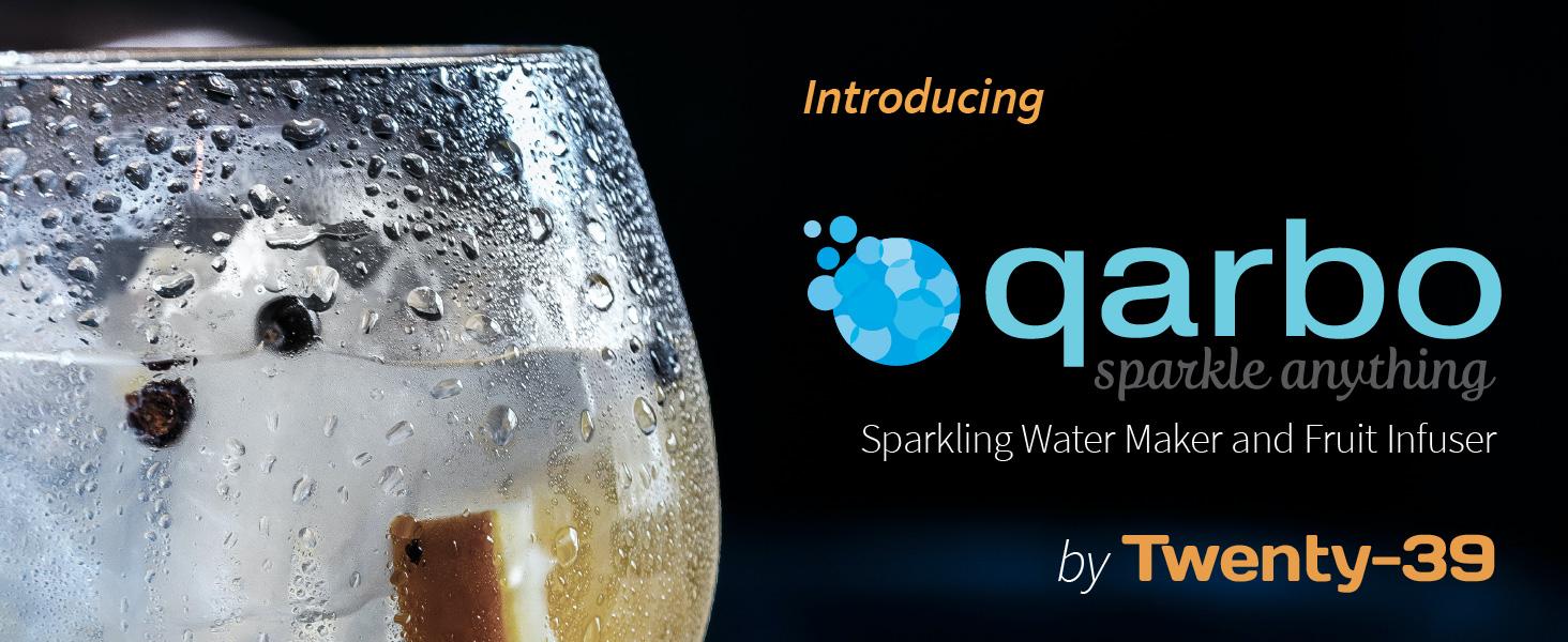 qarbo sparkling soda water seltzer maker