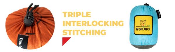 Triple Interlocking Stitching