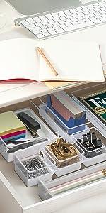 white desk organizer set