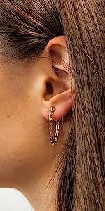 Bold Chain Earrings in Gold
