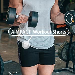 aimpact workout running shorts