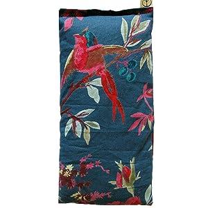 Teal Bird Eye PIllow - lavender flax scented cotton block print India - yoga aromatherapy sleep spa