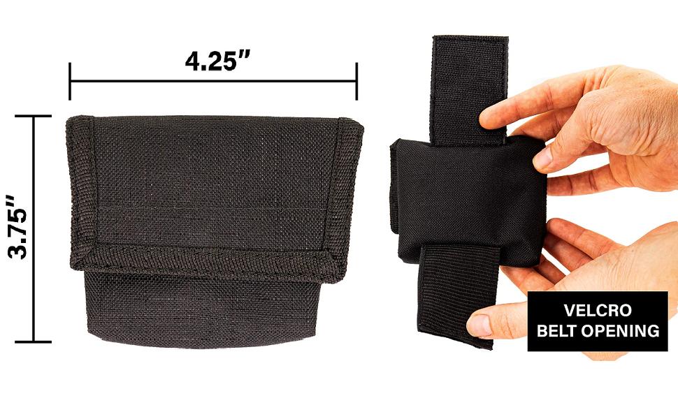 LINE2design Latex Glove Pouch Black - EMS EMT Firefighter Police Medical Glove Holder