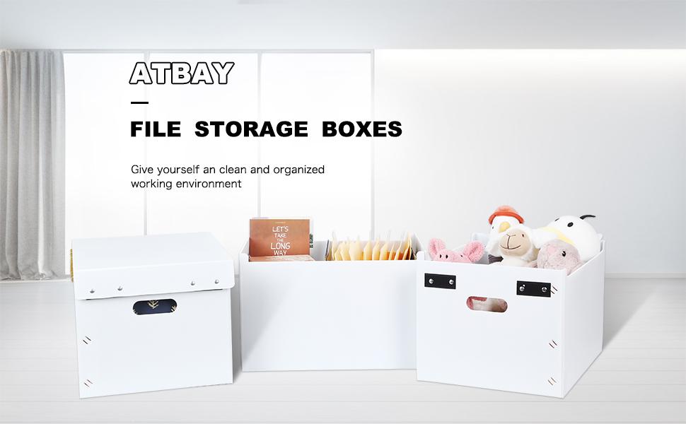 ATBAY Storage File Boxes