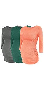 3 PACK Maternity Shirts