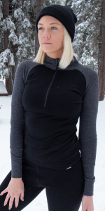 MERIWOOL Womens Half Zip Neck Collar Top lets you seal up for extra warmth or open up to cool down