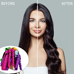 straight and so on, make beautiful curly and body wave hair without damage; Soft material allows