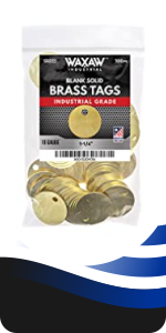 Brass Tags Chits round circular marking tags stamping 1.25 inch