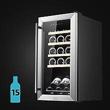 Vinoteca, Vinoteca 15 Botellas, Vino, Nevera vino, Vinoteca compresor