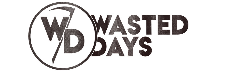 Wasted Days collectible enamel pins and embroidered patches for jackets, bags, hats, and accessories