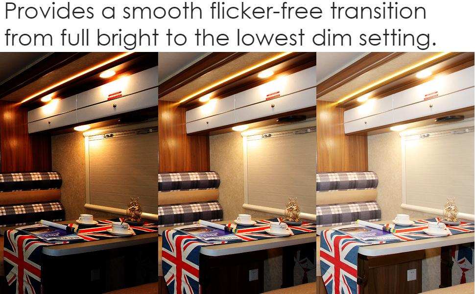 12v 24v light dimmer switch for RV boat van truck camper travel trailer