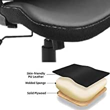 pu leather office chair seat