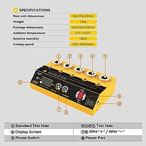Car Spark Plug Tester Spark Plug Test Tool Automotive Diagnostic Tool 12V Ignition Plug Analyzer