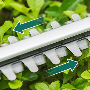 cortador de setos el/éctrico con bater/ía cortador de setos con bater/ía de doble acci/ón Cortasetos inal/ámbrico longitud de hoja de 510 mm 20 V 2,0 Ah URCERI