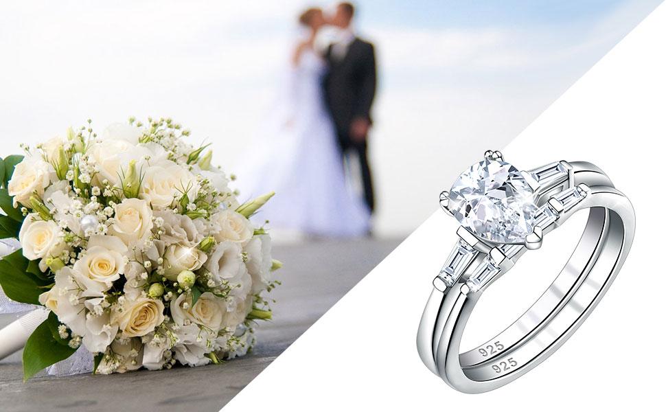 engagement ring wedding rings set for women