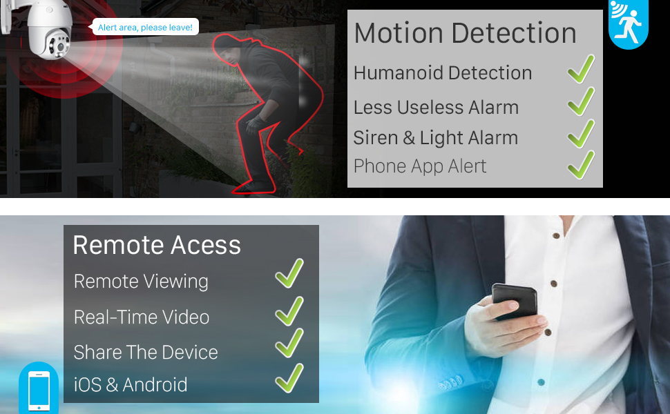 motion detection & remote viewing