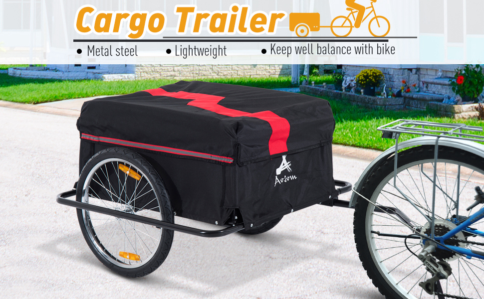 MODERN Folding Bicycle Cargo Trailer Shop Luggage Storage Utility Hitch Cover