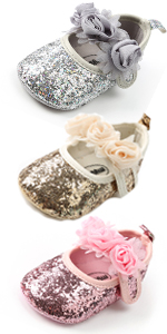 Baby Girl Shoe Mary Jane Flats Princess Dress Sparkly Bow Newborn Birthday Crib Shoe Soft Sole