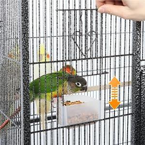 Yaheetech Jaula para Pájaros Jaula Grande con Ruedas Jaula para ...