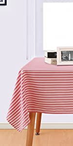 strip pattern table cloth
